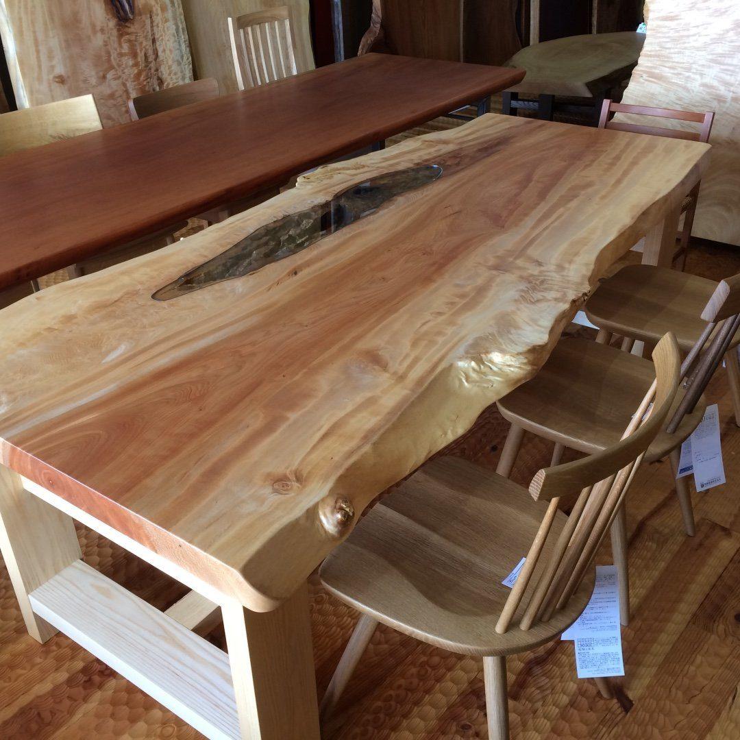 一枚板テーブル 山の香舎(やまのこうしゃ)